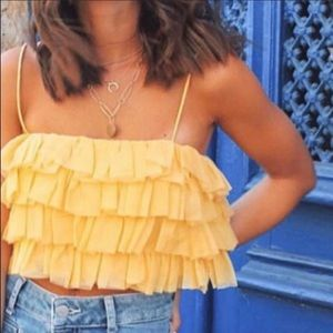 Ruffled Tulle Top
